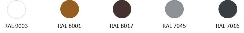 RAL available - EHA2 colors